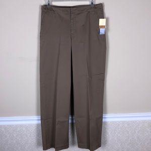 COLDWATER CREEK Aspenwood Tan Pants Size 14 NWT